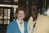 U.S. Senator Debbie Stabenow poses for a photo with Derrick Quinney.