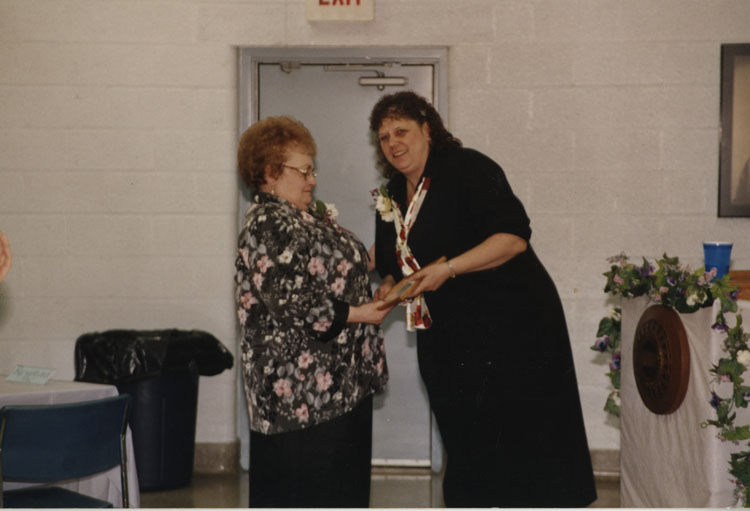 image of Dorothy Stevens and Judy Bolton at the Local 602 Union Hall.
