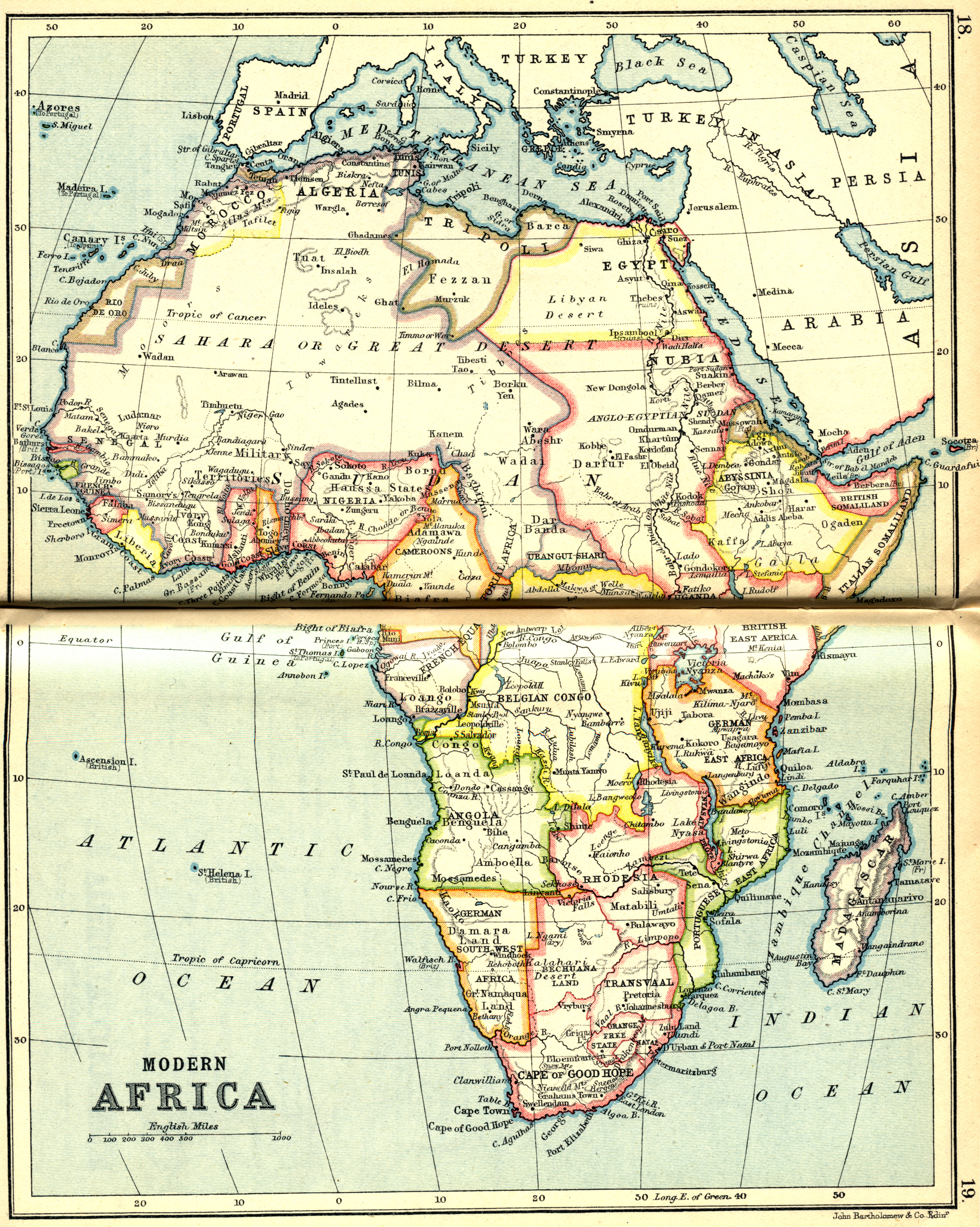 Modern Africa, 1913 | Scanned Maps | Map Library | MSU Libraries