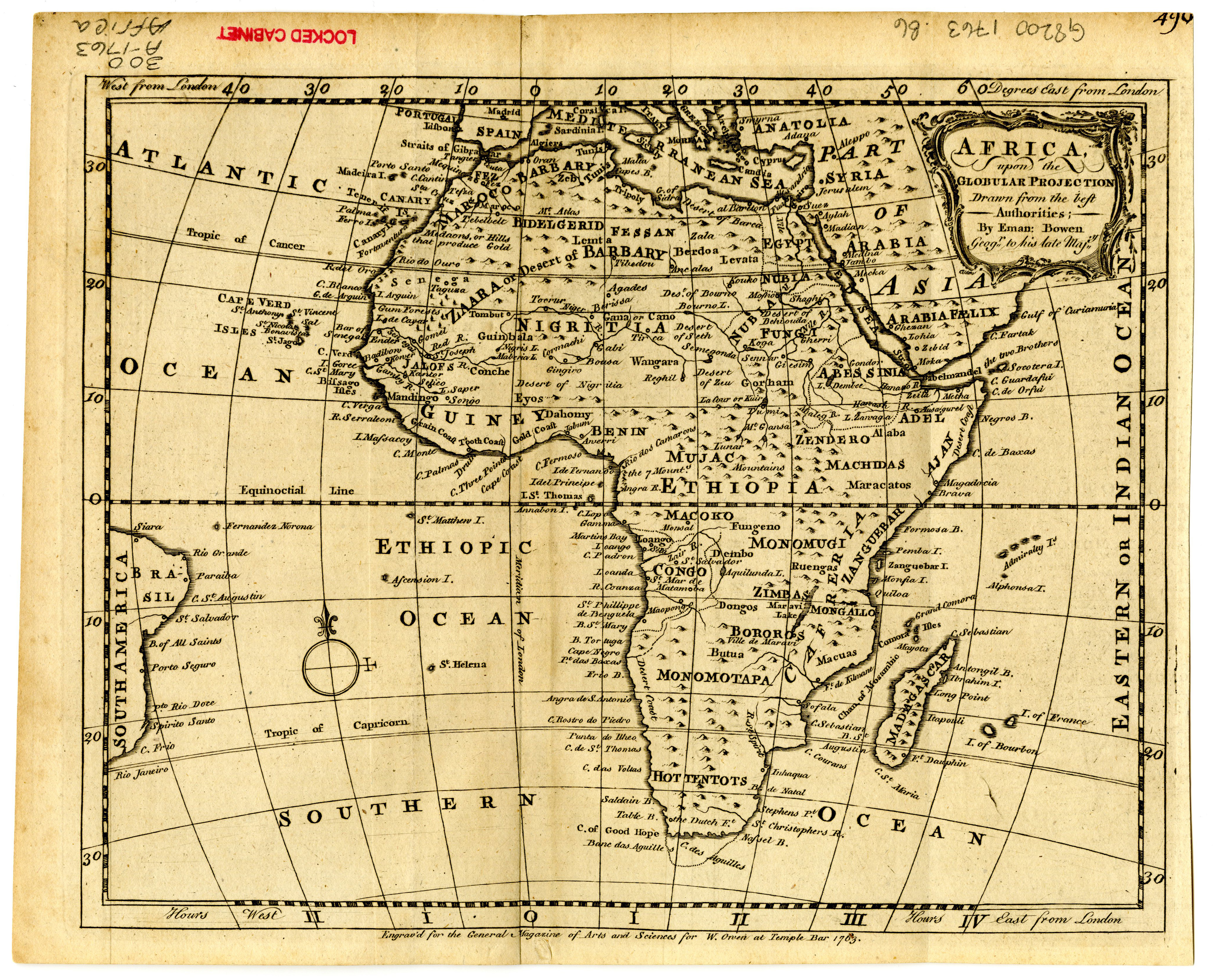 Africa 1763 Scanned Maps Map Library MSU Libraries - Us Map Globular Projection