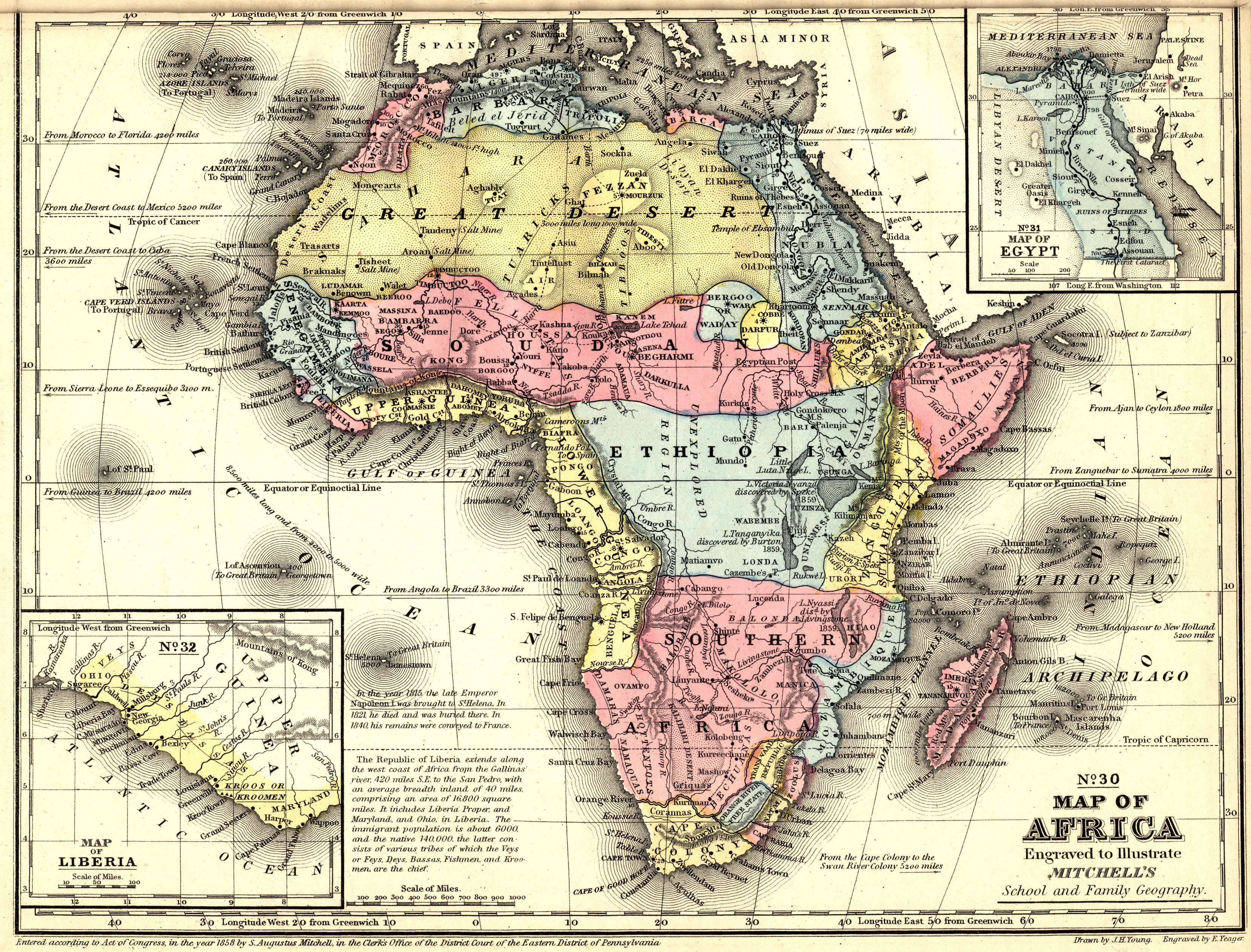 19th Century Africa Map.Africa 1866 Scanned Maps Map Library Msu Libraries