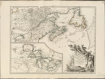 Partie de l'Amerique septent? qui comprend la Nouvelle France ou le Canda - 1755