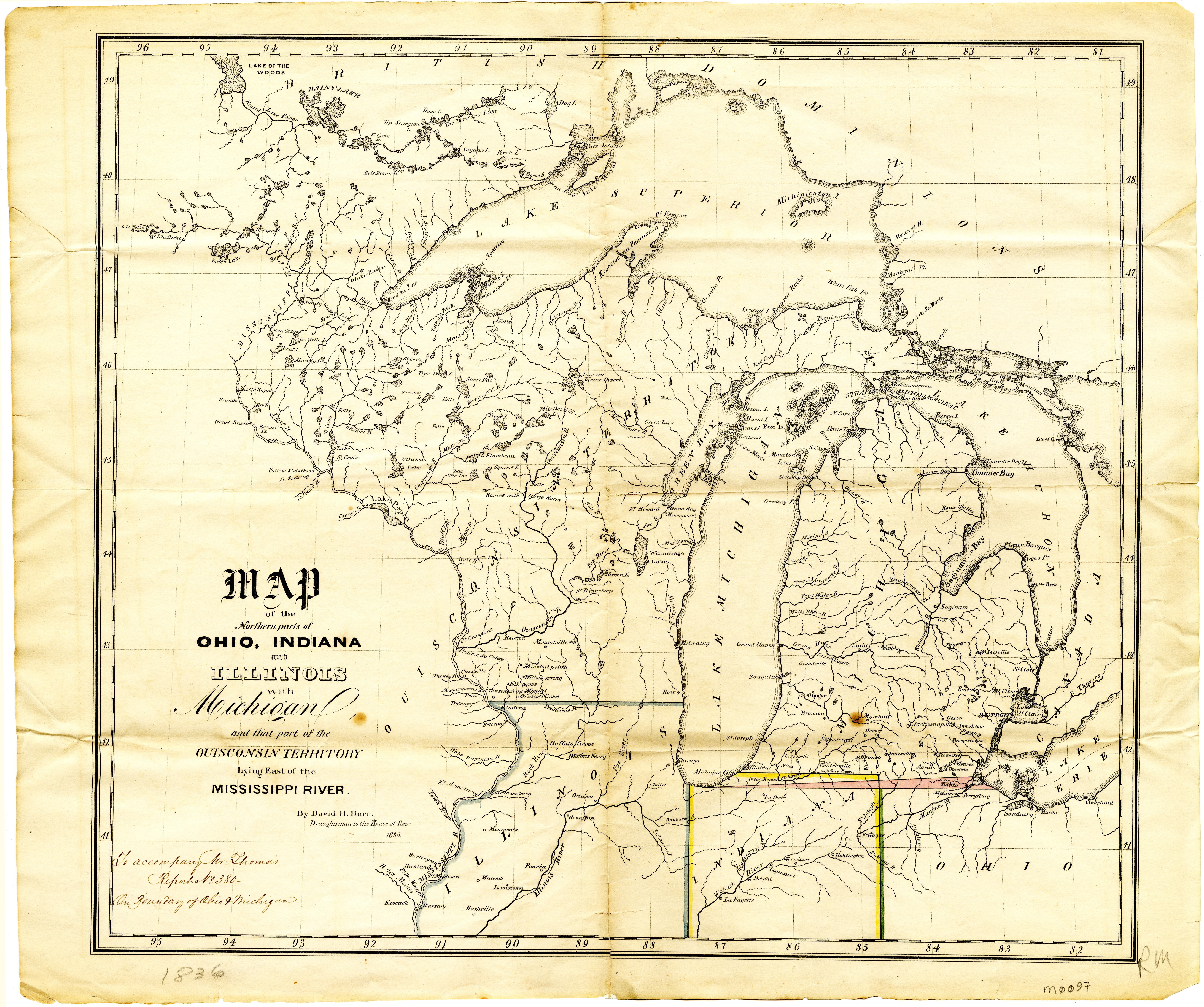 Michigan Ohio Boundary MSU Libraries - Indiana rivers map