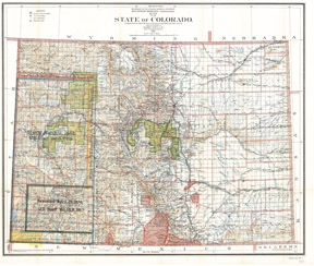 State of Colorado 1902 color map image