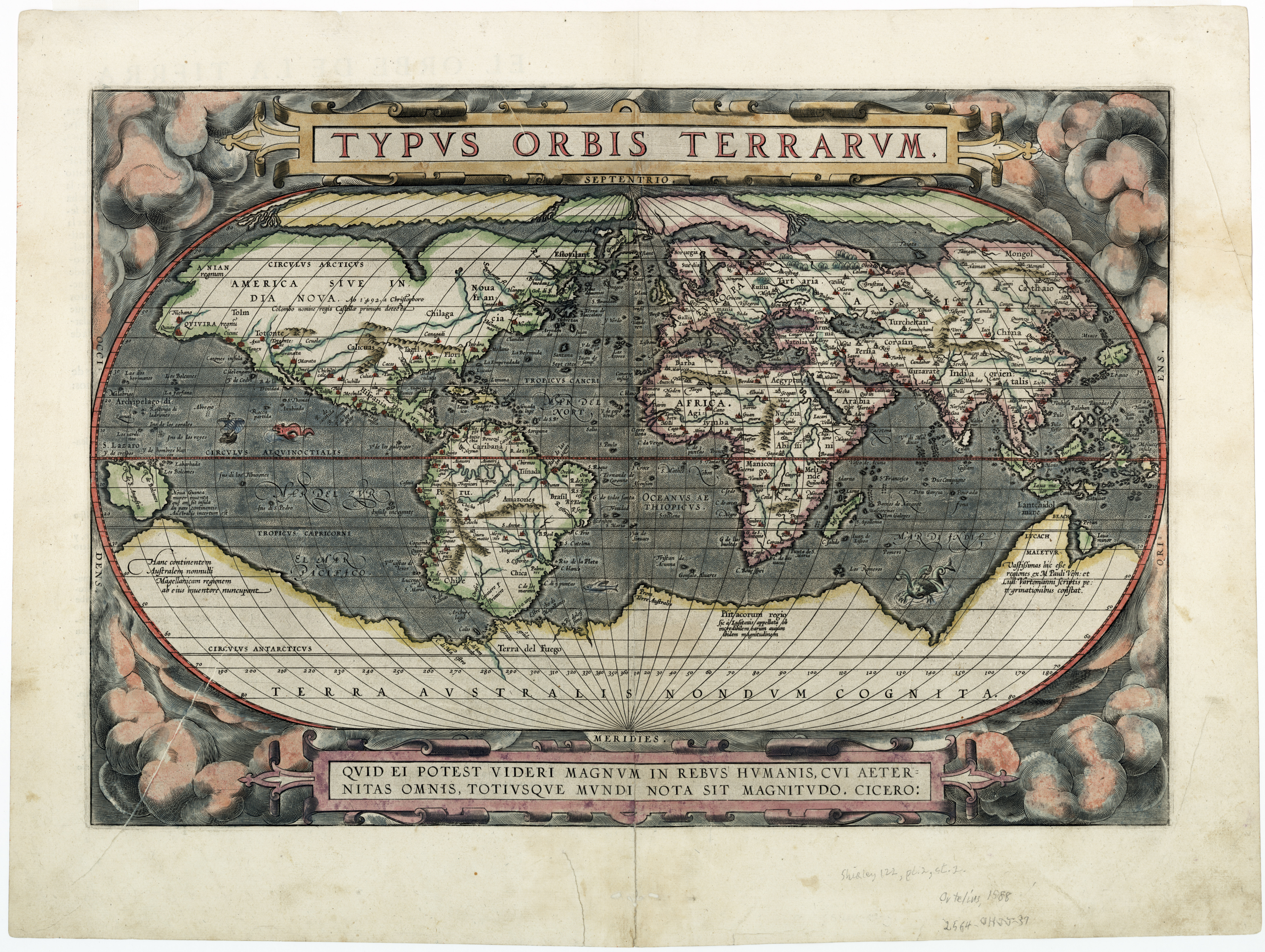 Download entire image 1588 World Map Monster
