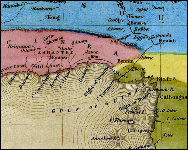 Boynton's 1841 map of Africa