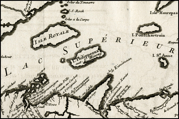 Nicholas Bellin's 1744 map of the Great Lakes