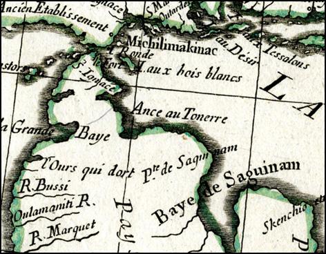 Detail from Partie Occidentale du Canada et Septentionale de al Louisane avec...