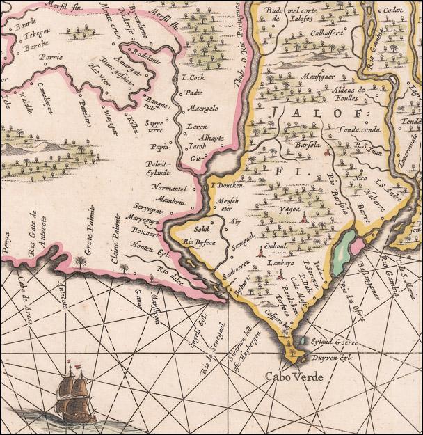Detail From Genehoa, Jaloffi, et sierraliones regna