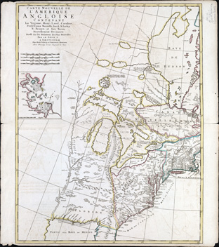 1721,Carte nouvelle de l'Amerique map
