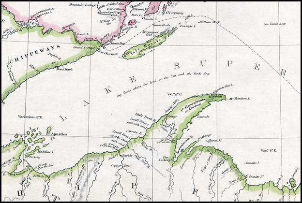 SDUK's 1832 map of Lake Superior