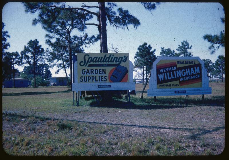 Spaulding Ad. Milorg. on billboard