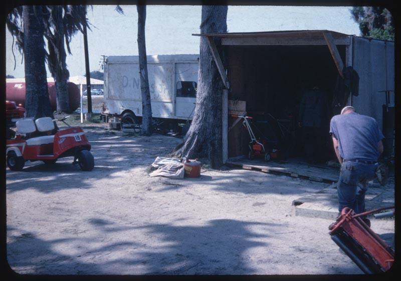 Equipment shelter back