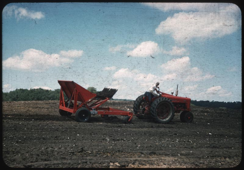 Stone picker in action