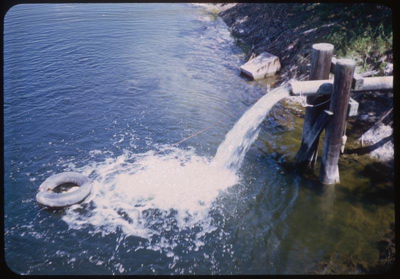 Refilling Lake-Tube Holds Dye