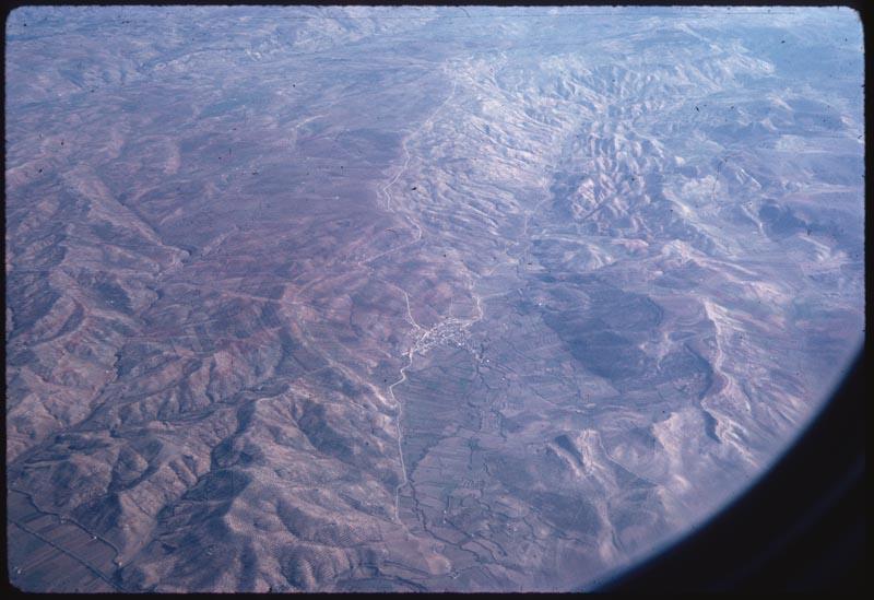 Mts. & village from Air - toward Malaga