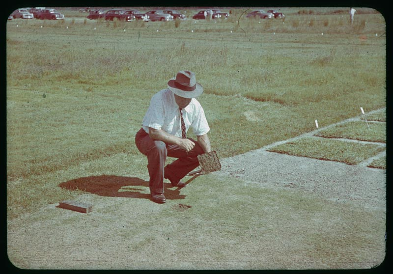 Bob Scott & his square sod cutter