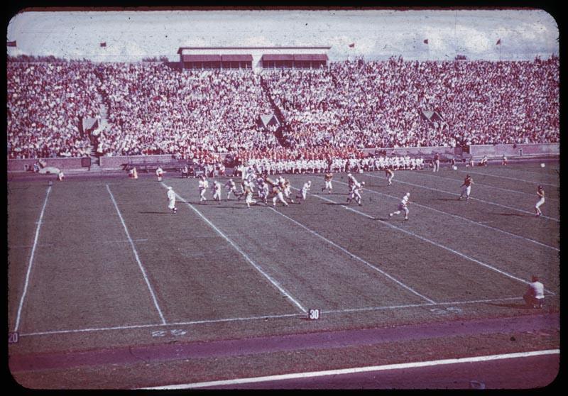 Football game on Stadium