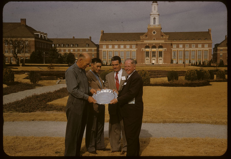 Noer, Price, Janes & Dunning - tray award to O. J.