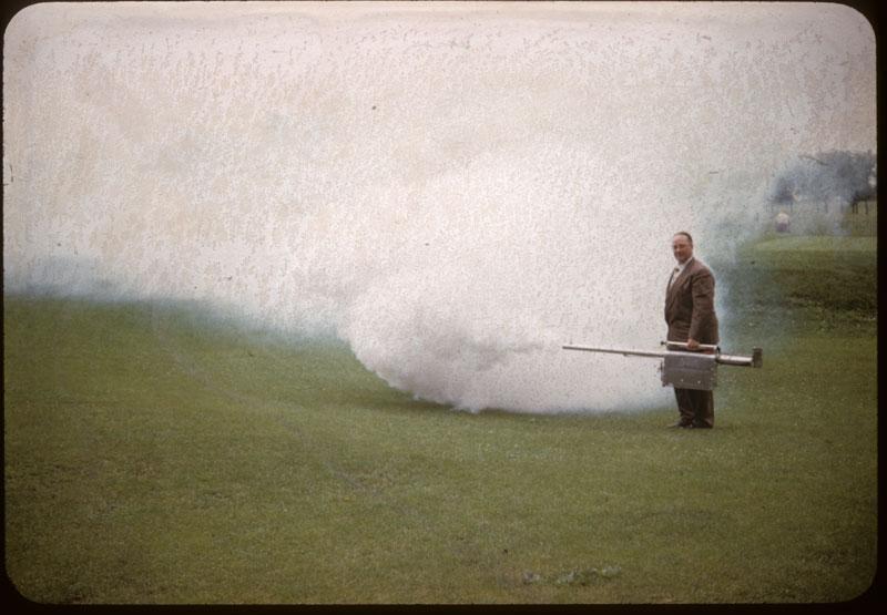 Fog gun for mosquitos - portable