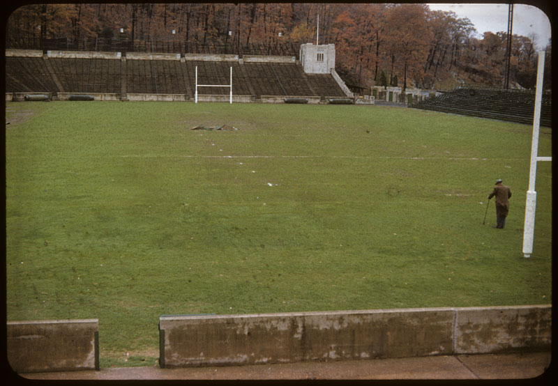Michie stadium poor water logged turf