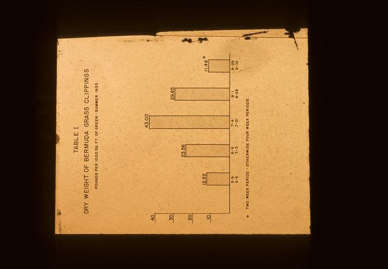 Chart Dry wt. Bermuda clippings