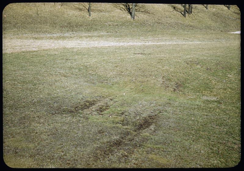 Seepage damage side hill F