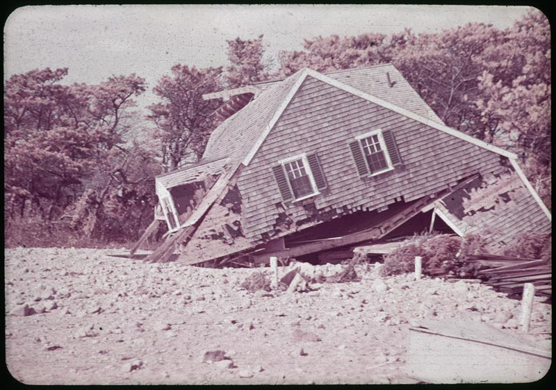 Sept Hurricane wrecked house