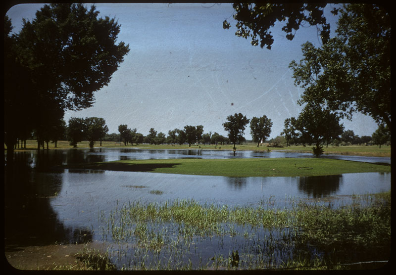 High Flood waters on course