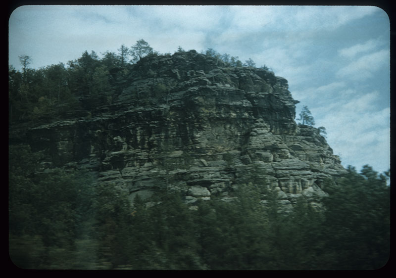 Rock Formation from train
