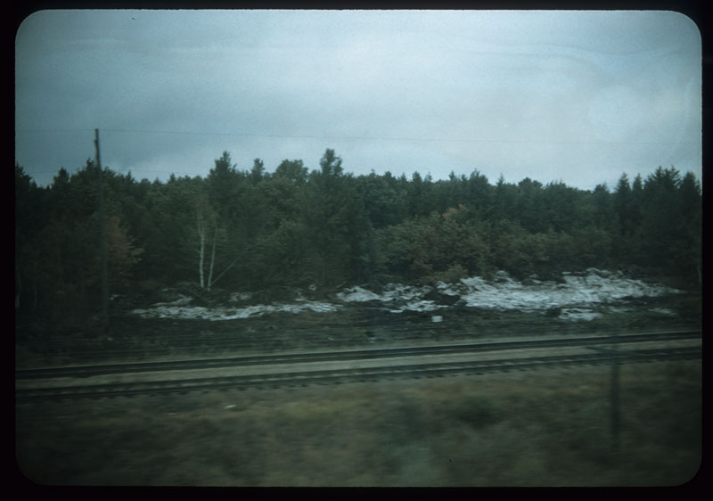 Sand Outcropping from train