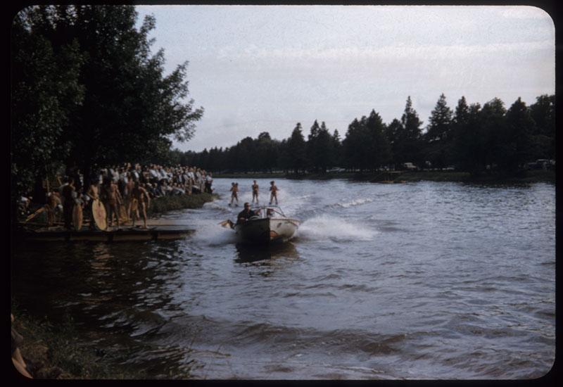 A. I. P. E. - Skiers approach dock