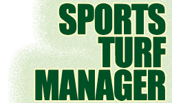 Sports Turf Manager title banner with logo